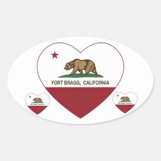 california flag fort bragg heart stickers