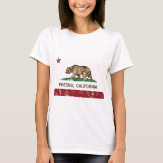 california flag fresno A distressed T-Shirt
