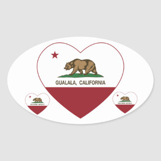 california flag gualala heart stickers
