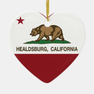 california flag healdsburg heart ceramic heart decoration