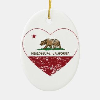 california flag healdsburg heart distressed ceramic oval decoration