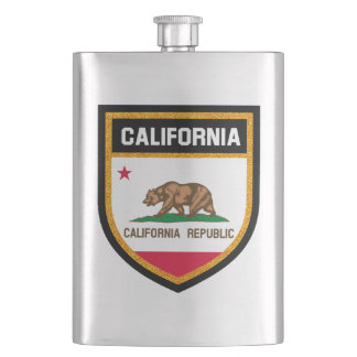 California Flag Hip Flask