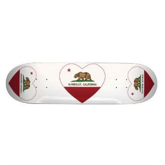 california flag humboldt heart 21.3 cm mini skateboard deck