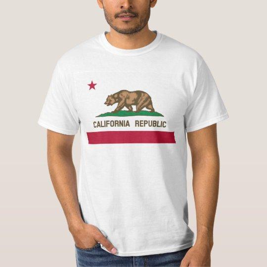 California Flag image for Men's-T-Shirt-White T-Shirt