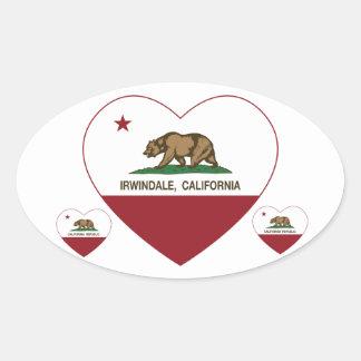 california flag irwindale heart sticker