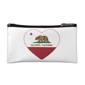 california flag isla vista heart cosmetics bags