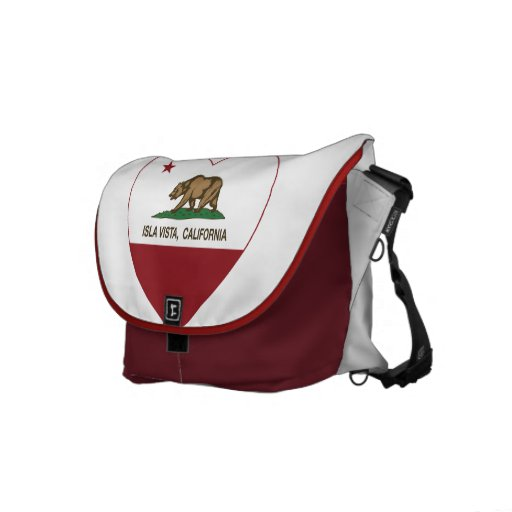 california flag isla vista heart messenger bags