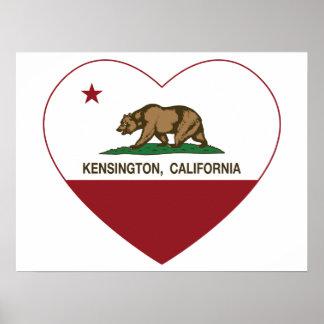 california flag kensington heart posters