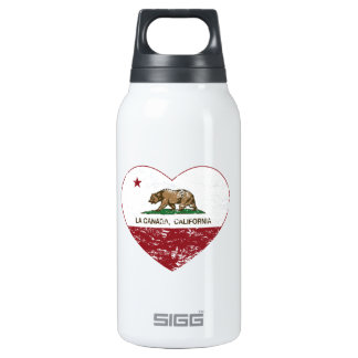 california flag la canada heart distressed 10 oz insulated SIGG thermos water bottle