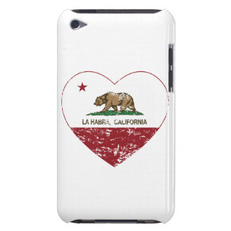 california flag la habra heart distressed barely there iPod case