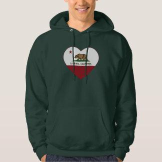 california flag la honda heart hoodie