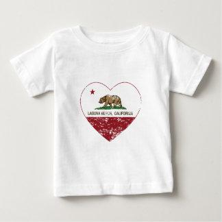 california flag laguna beach heart distressed baby T-Shirt