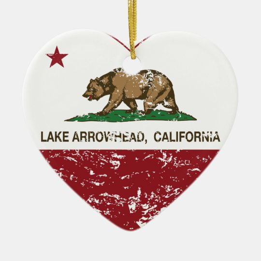 california flag lake arrowhead heart distressed christmas