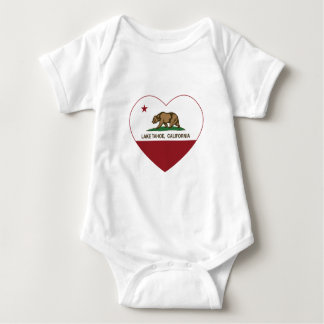 california flag lake tahoe heart baby bodysuit