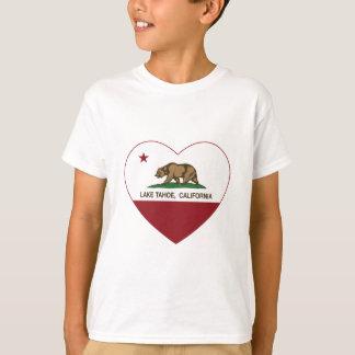 california flag lake tahoe heart T-Shirt