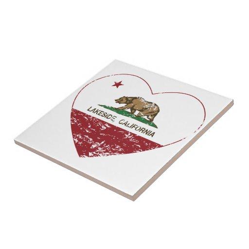 california flag lakeside heart distressed tile