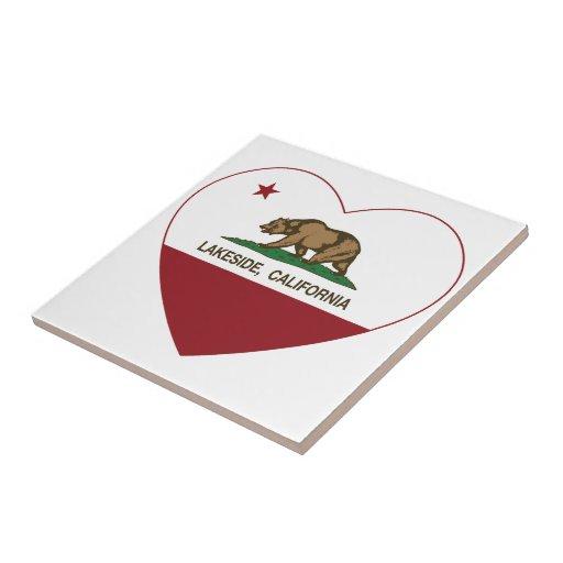 california flag lakeside heart ceramic tile