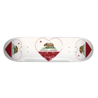 california flag lakewood heart distressed custom skate board