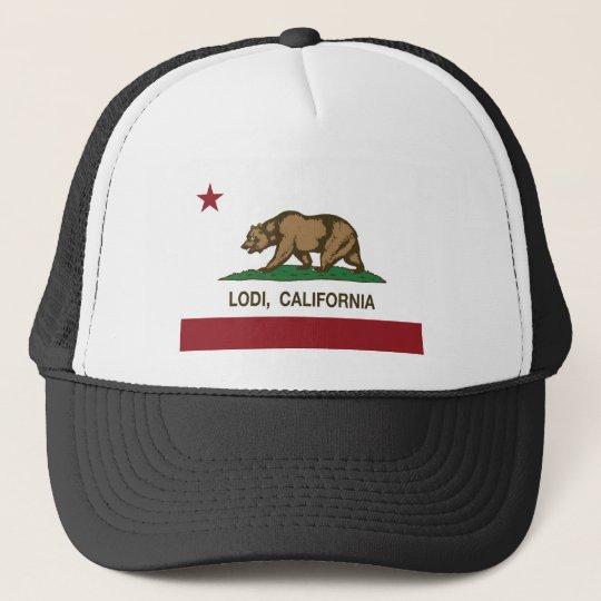 california flag lodi cap