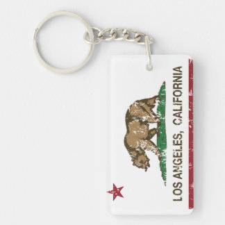 california flag los angeles distressed products key ring