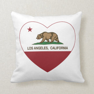 california flag los angeles heart cushion