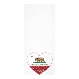 california flag los gatos heart distressed personalized announcement