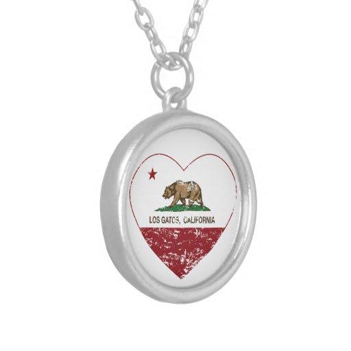 california flag los gatos heart distressed custom jewelry