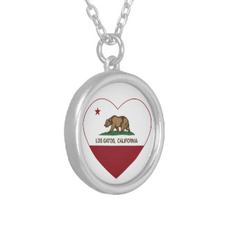 california flag los gatos heart pendants