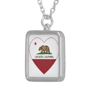 california flag los gatos heart pendant