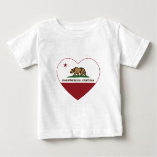 california flag manhattan beach heart baby T-Shirt