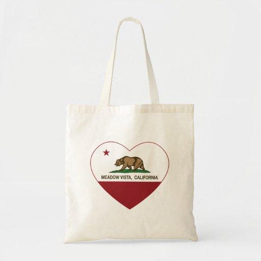 california flag meadow vista heart canvas bag
