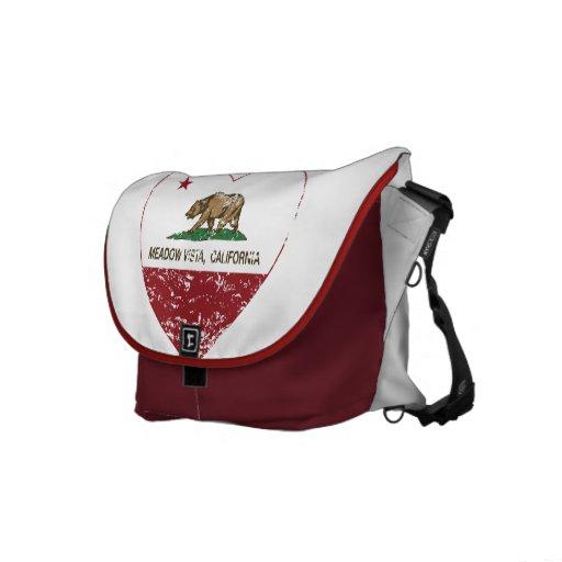 california flag meadow vista heart distressed messenger bag