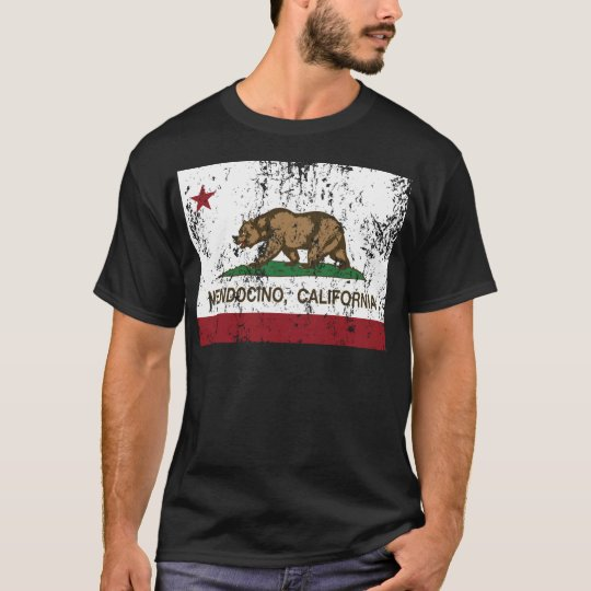 california flag mendocino distressed T-Shirt