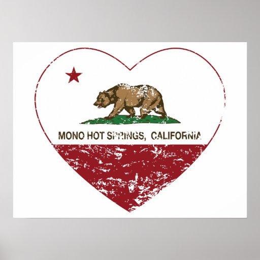california flag mono hot springs heart distressed print