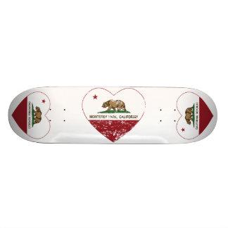 california flag monterey park heart distressed skateboard