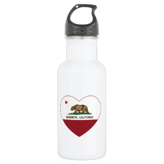 california flag murrieta heart 532 ml water bottle
