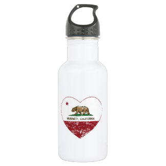 california flag murrieta heart distressed 532 ml water bottle