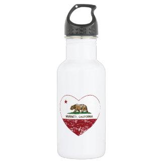 california flag murrieta heart distressed 532 ml water bottle
