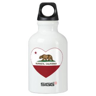 california flag murrieta heart SIGG traveller 0.3L water bottle