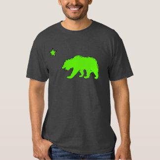 California flag neon green bear guys tee