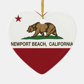 california flag newport beach heart ceramic heart decoration