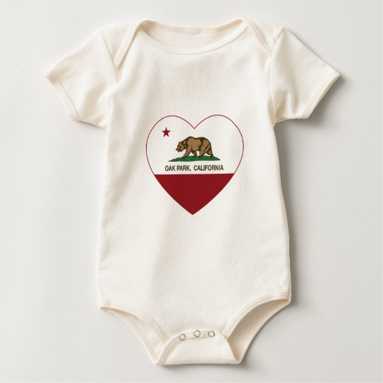 california flag oak park heart baby bodysuit