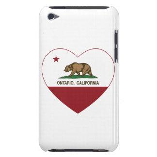 california flag ontario heart iPod Case-Mate case