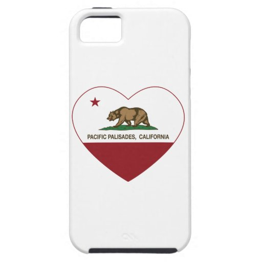 california flag pacific palisades heart iPhone 5 case