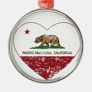 california flag pacific palisades heart dist christmas ornament