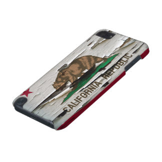 California Flag Paint Peel iPod Touch (5th Generation) Cases