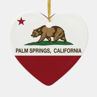 california flag palm springs heart ceramic heart decoration