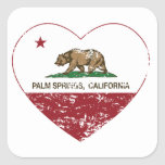california flag palm springs heart distressed square stickers