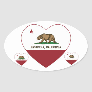 california flag pasadena heart stickers