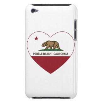 california flag pebble beach heart iPod Case-Mate case